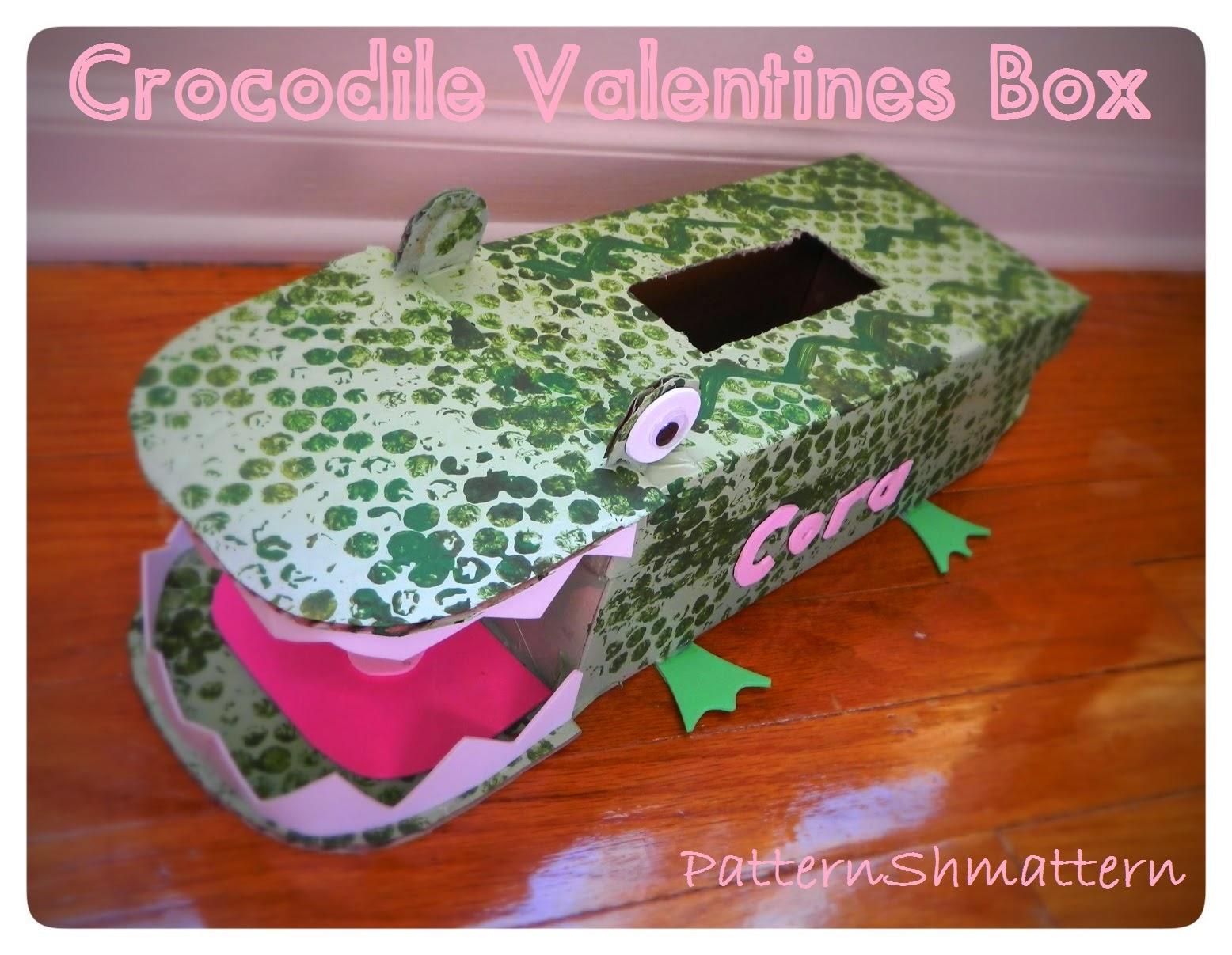 crocodile or alligator valentines and box