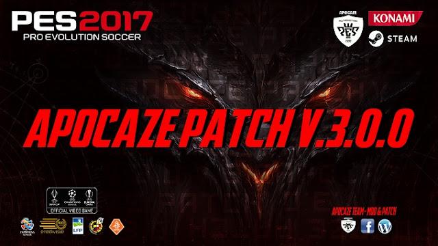 Patch PES 2017 Terbaru dari Apocaze Patch V3.0