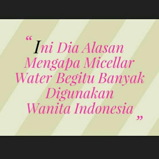 micellar water, kenapa haru pakai micellar water, alasan menggunakan micellar water, kegunaan micellar water, perawatan wajah terbaik, micellar water terbaik, cleansing wajah, kulit berminyak, kulit wajah yang kering,