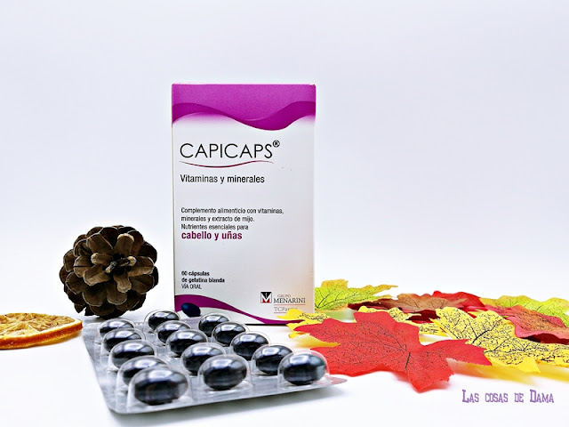 Capicaps vitaminas minerales cabello uñas otoño salud farmacia menarini