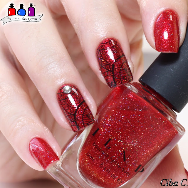 ILNP, ILNP Stopping Traffic, Vermelho, Red, Holografico, Ciba C, Cebella M., Carimbada, BP123, Born Pretty,