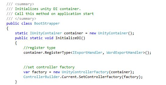 Dependency Injection code sample3