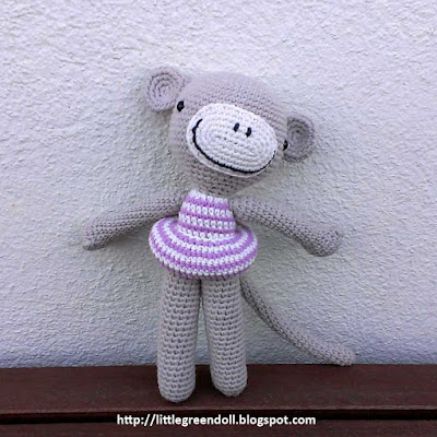 Amigurumi crochet Pica Pau Monkey Mono