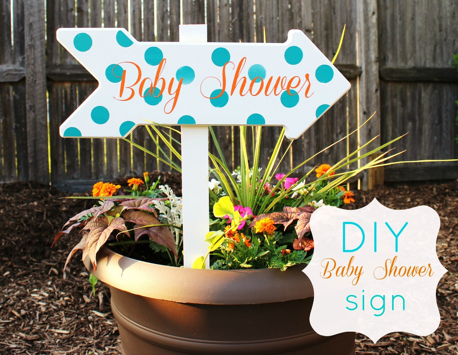 DIY Baby Shower Wood Sign | Delightfully Noted