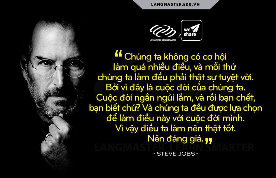Câu nói hay của Steve Jobs