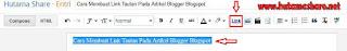 Insert Link Blogger Blogspot