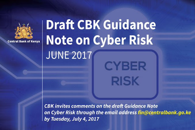 CBK draft guidance note for cyber risk