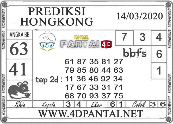 PREDIKSI TOGEL HONGKONG PANTAI4D 14 MARET 2020
