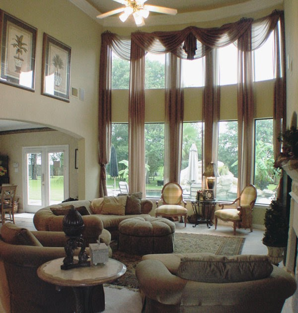 Custom Window Treatments: Two Story Beauty