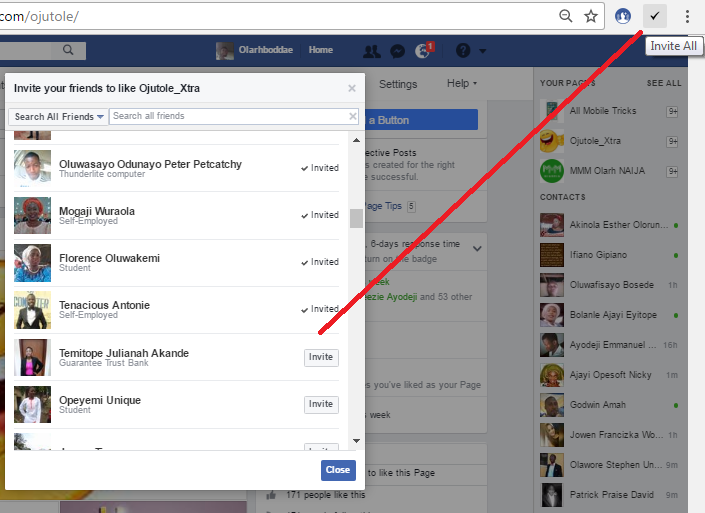How To Send Invitation to All your Facebook Friends To Like your