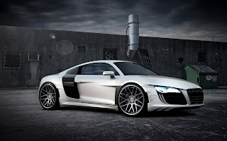 audi cool  modified sport car widescreen computer background wallpaper