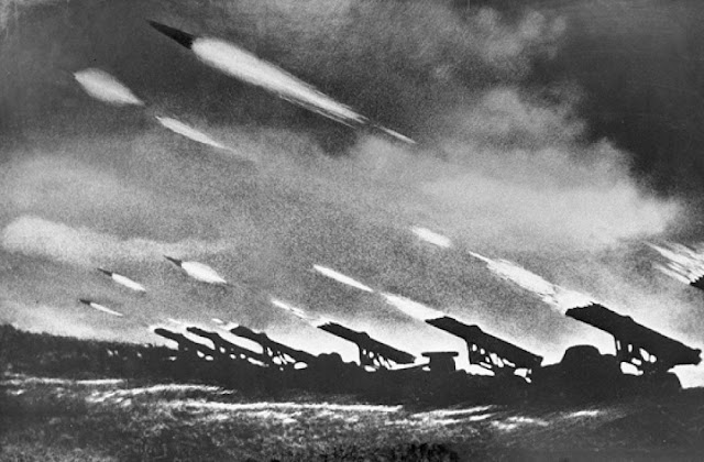 Katyusha mobile rocket launchers, 14 July 1941 worldwartwo.filminspector.com