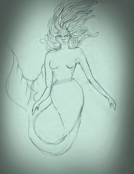 Sketch Of The Day: Yemaya,The Yoruba Sea Goddess