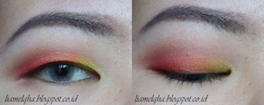 Tutorial: Sunset Eye Makeup Look for Monolid || Liamelqha