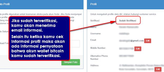 Cara Verifikasi Akun Wallet Bitcoin Indonesia di Indodax