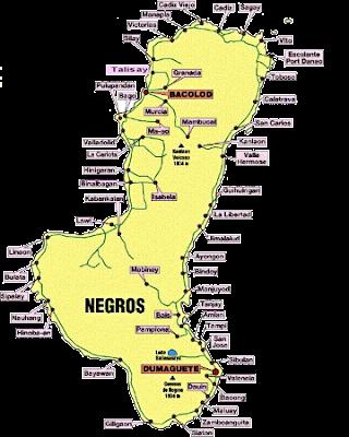 Negros Island Region Map