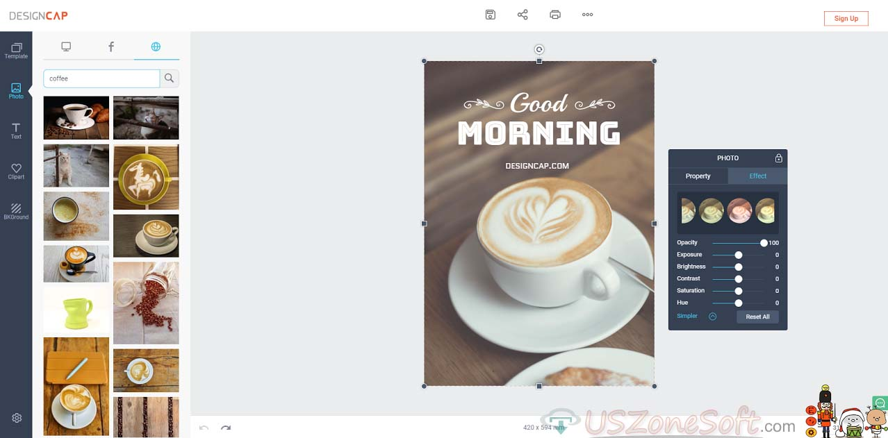 how to make a graphic poster on facebook