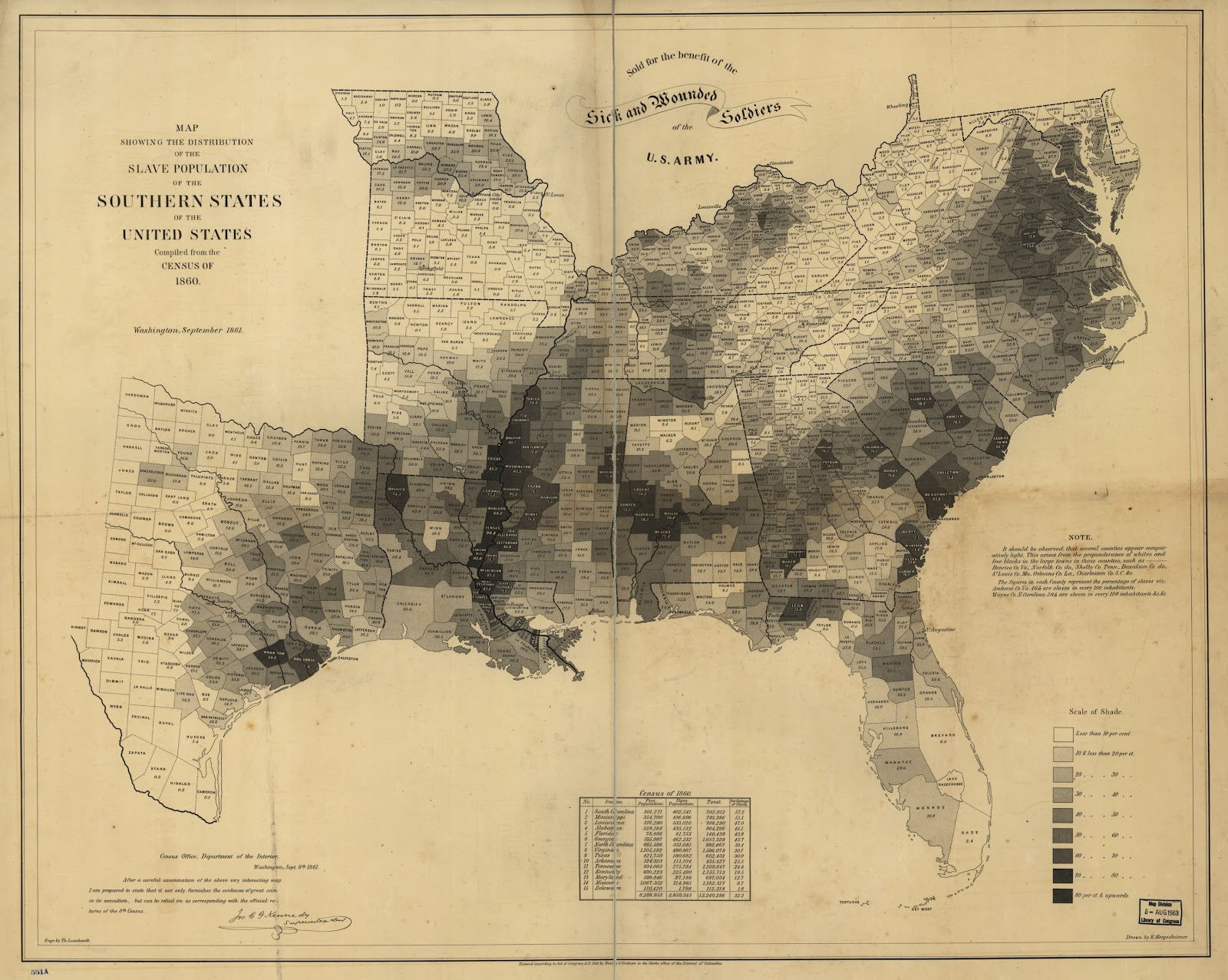 slave population of the southern states 1860 lincoln used this map to make visual arguments about confederate motivations and enthusiasm for succession