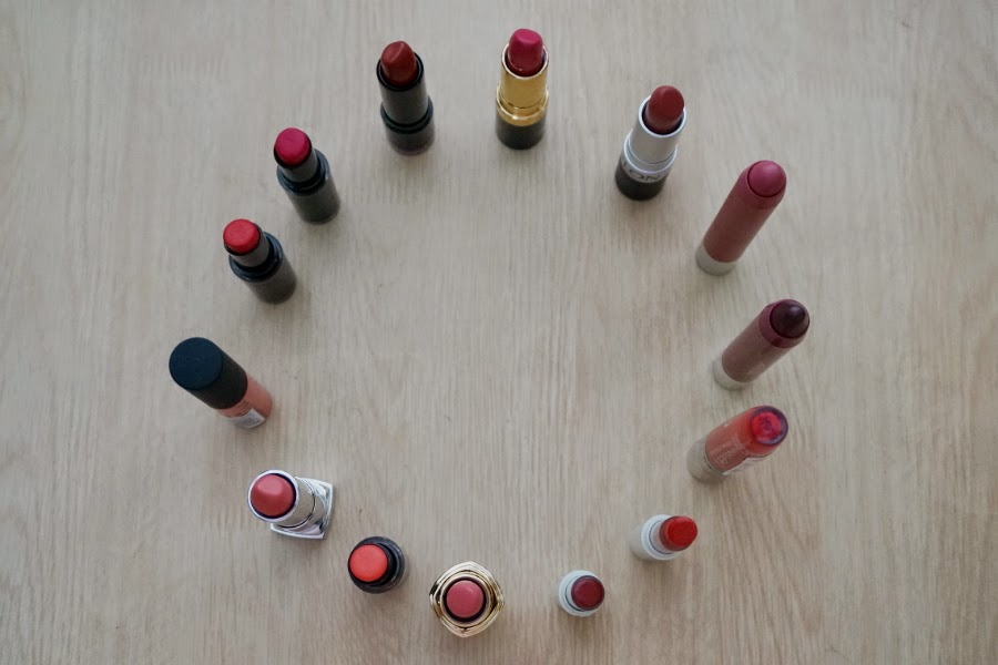 Coral and Red Lipstick Collection