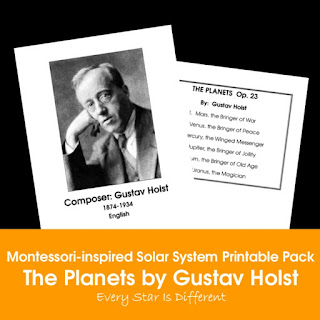 Montessori-inspired Solar System Printable Pack: The Planets by Gustav Holst