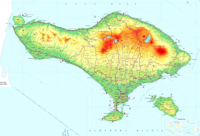 Gambar Peta Bali Kualitas HD