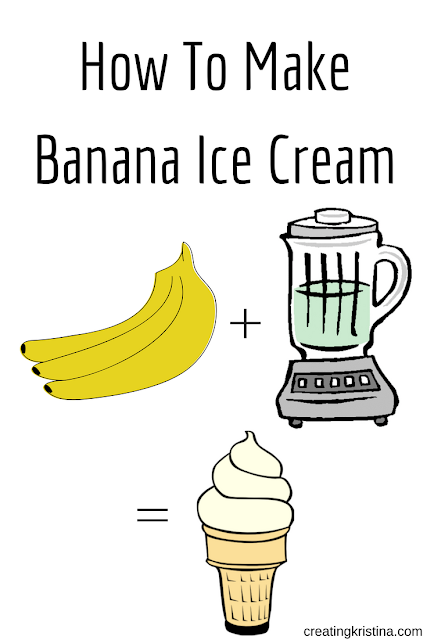 Bananas Plus Blender Equals Ice Cream  - How To Make Banana Ice Cream