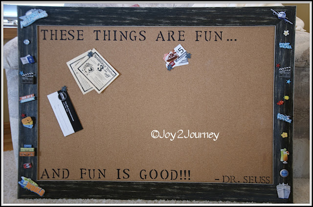 Bulletin board, decorate, quote