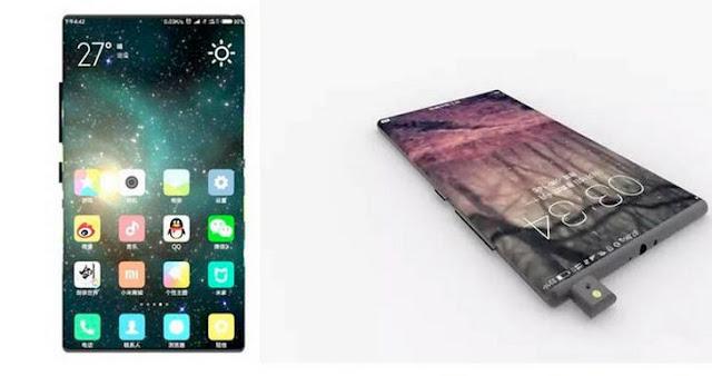 ponsel pintar berlayar melengkung Mi Mix 2