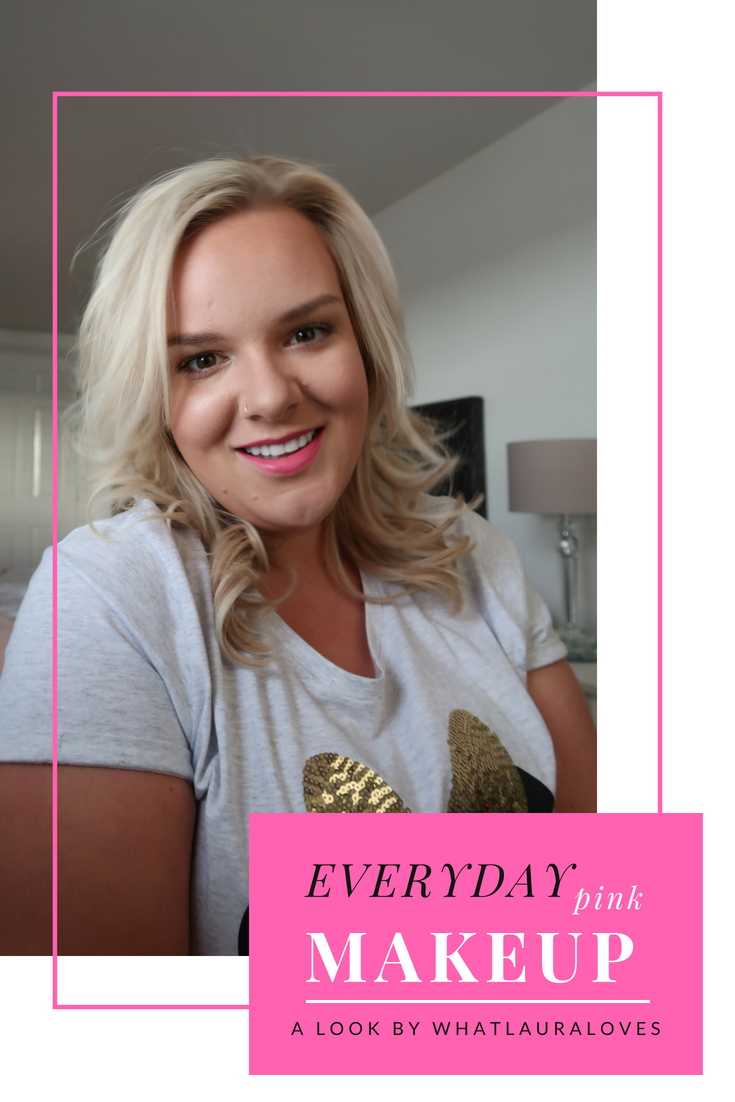 Everyday pink makeup look for summer by uk beauty blogger whatlauraloves