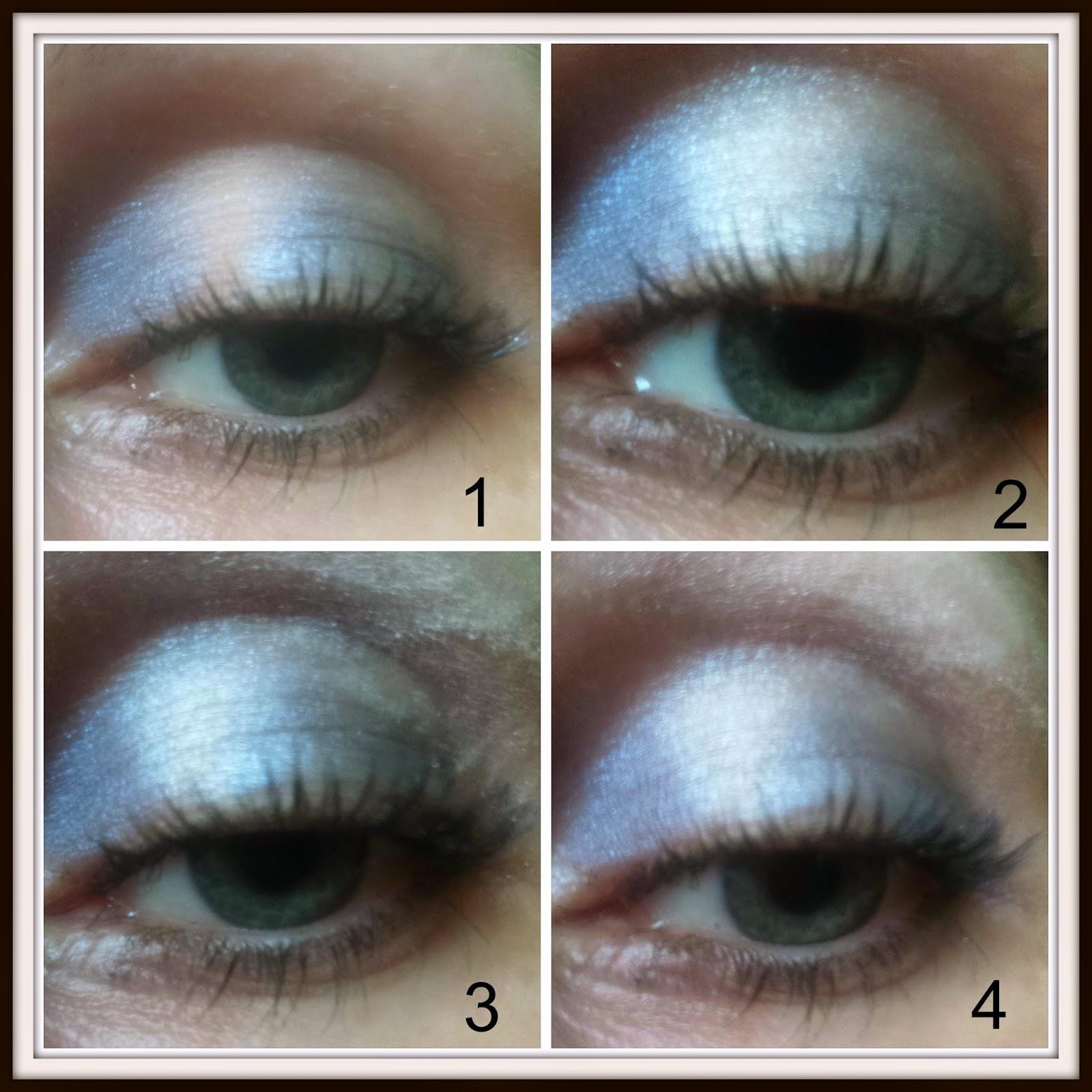 rimmel smokey blue quad eyeshadow palette tutorial
