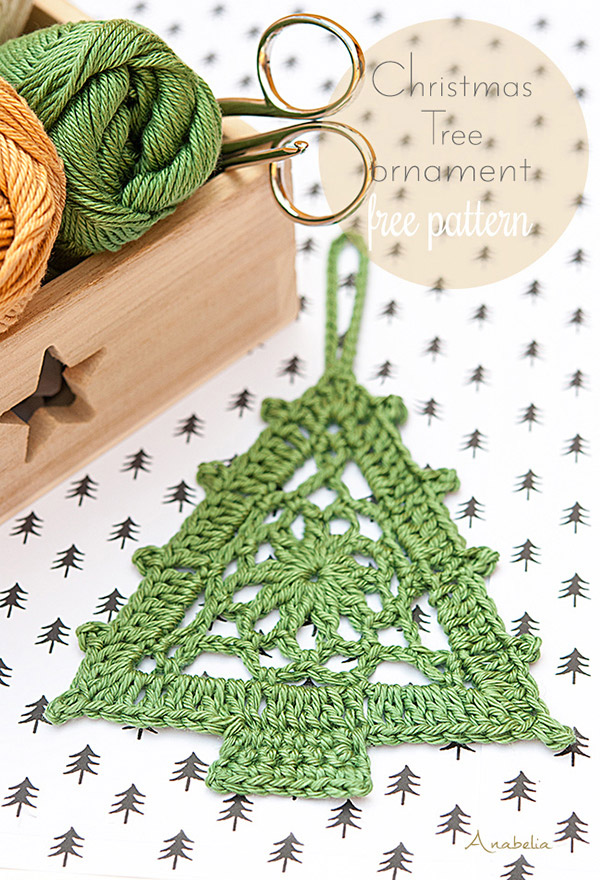 Crochet Christmas Tree free pattern, Anabelia Craft Design