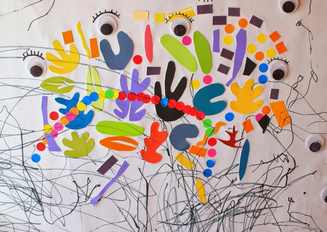 making matisse inspired murals with kids