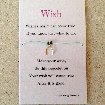 Lucky wishbone charm wish bracelet, DIY, Lisa Yang Jewelry