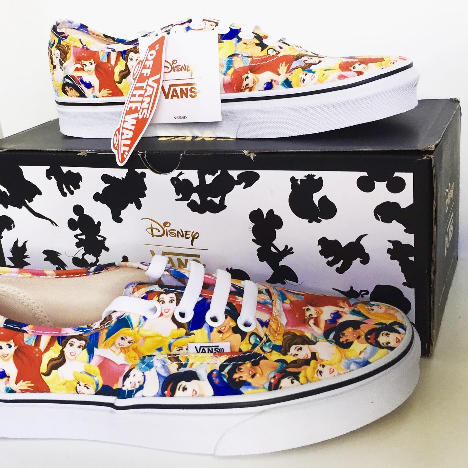 08c1fd920f4a42 Vans have released adult   children Disney shoes