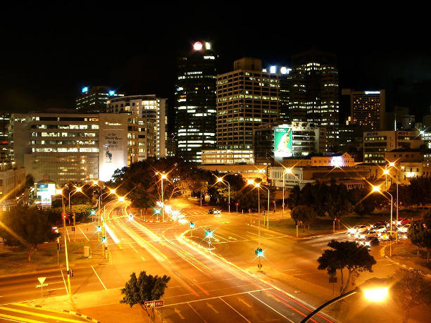 the world visit cape town city at night. Black Bedroom Furniture Sets. Home Design Ideas