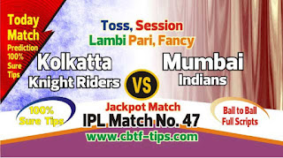 IPL 2019 47th Match Prediction Tips by Experts MUM vs KKR