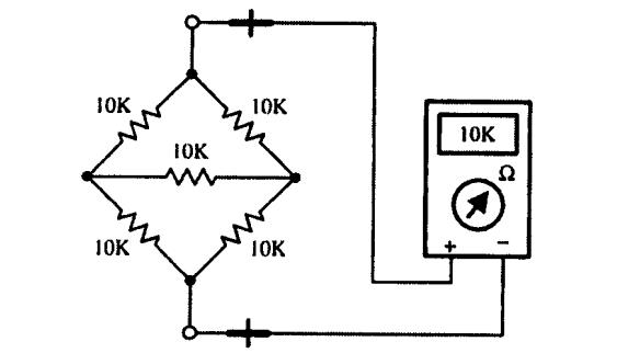 طريقة قياس قيمة مقاومة في دارة الكترونية