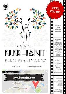 SABAH ELEPHANT FILM FESTIVAL, hari gajah sedunia, selamat hari gajah sedunia, gajah, wwf, SEFF