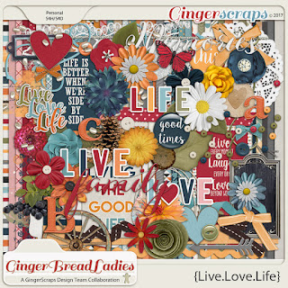Creative Team, Annemarie, for GingerScraps - November 2017 Free with Purchase Live.Love.Life