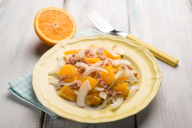 Salata de ton cu portocale