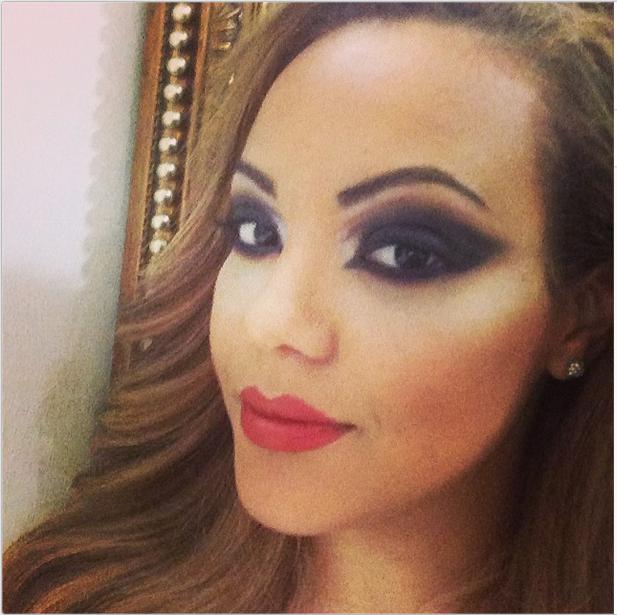 Checkout Sarah Ofili's transformation after Arabic make up ...
