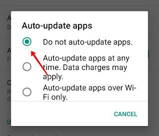 Stop auto update apps