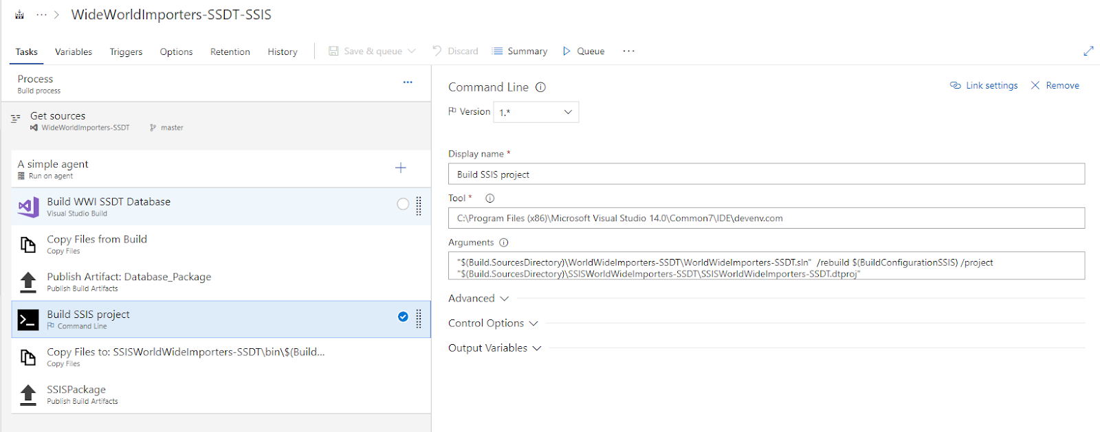 BI Future Blog: DevOps : Building your SSIS project in VSTS