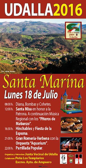 Fiestas de Santa Marina en Udalla 2016 en Ampuero