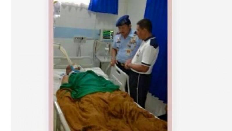 Serda Septiawan Wahyu saat dirawat di RS Salamun Bandung