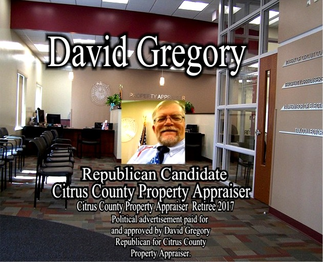David Gregory Republican Candidate for Citrus County Property Appraiser