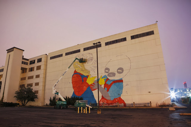 New Street Art Collaboration By Jasper Wong and Kelly Towles in Washiongton DC, USA. 4