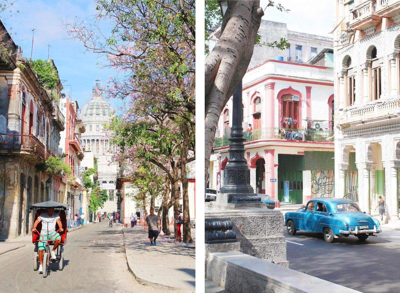 Tuk-tuk derrière le Capitolio de la Havane - Cuba