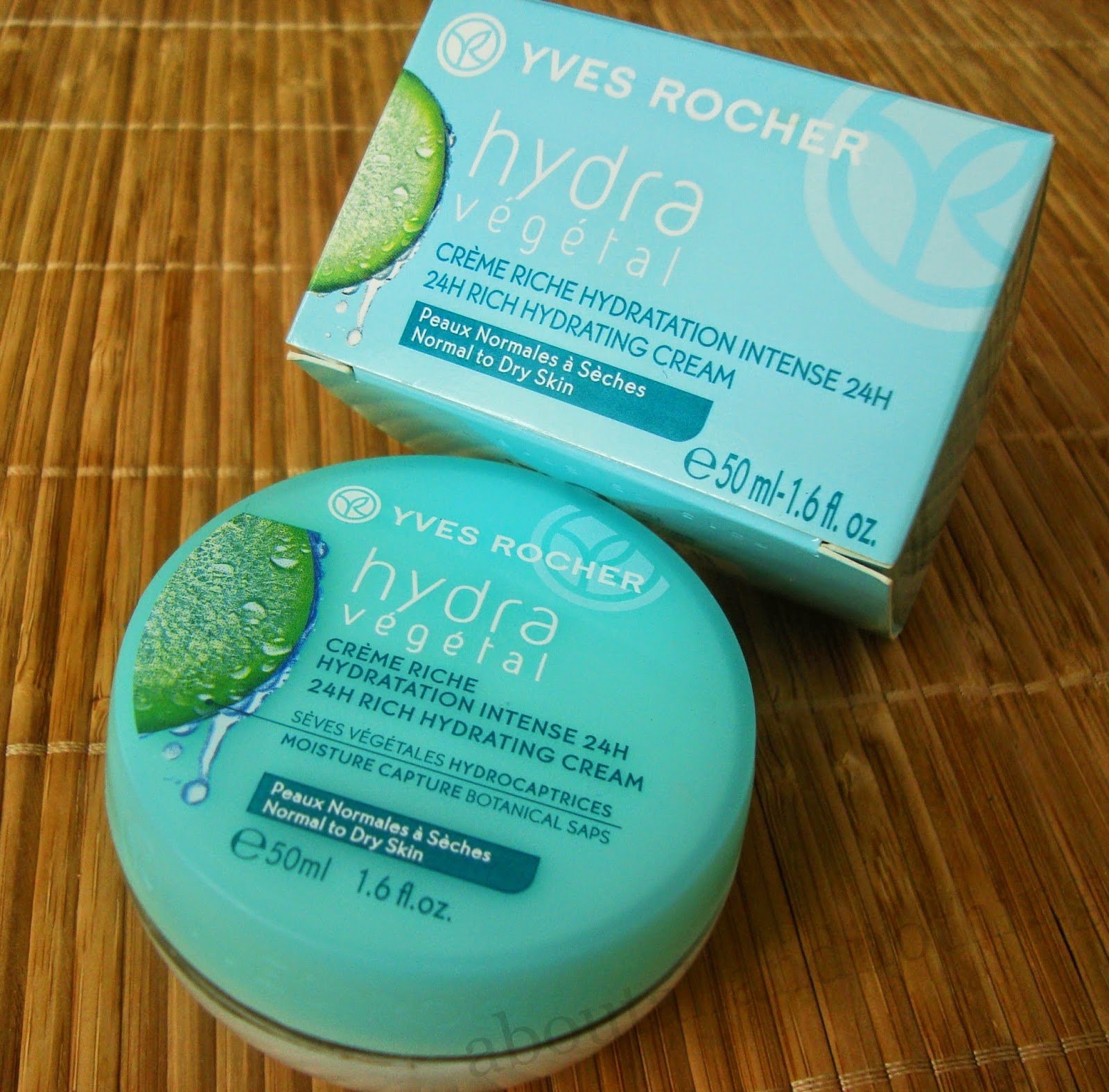 Yves Rocher, Hydra Vegetal, Aksamitny krem intensywnie..