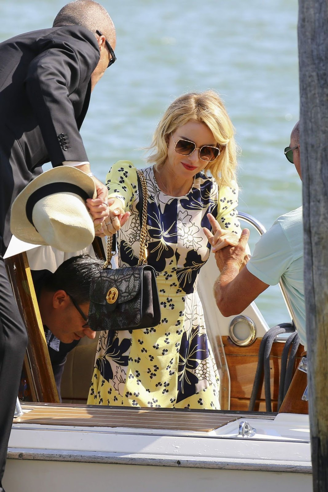 Full HD Photos of 'The Bleeder' actress Naomi Watts Arrives at A Private Dock Venice Film Festival in Venice